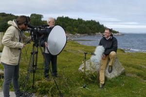 Filming av MOOC på Herdla. Frode, Arnt og Kerim